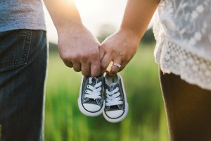 The Fertility Partnership - Couple holding shoes